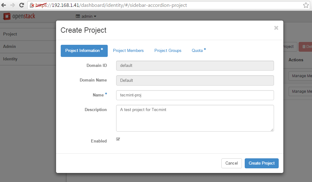 Add-OpenStack-New-Project-Details