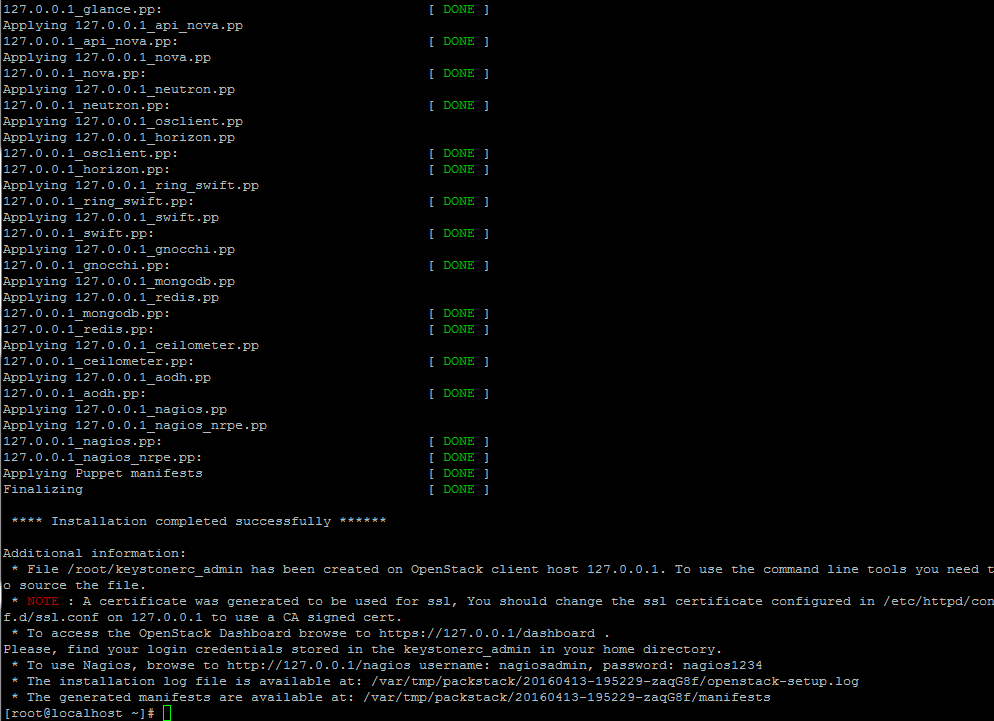 OpenStack-Installation-Completed