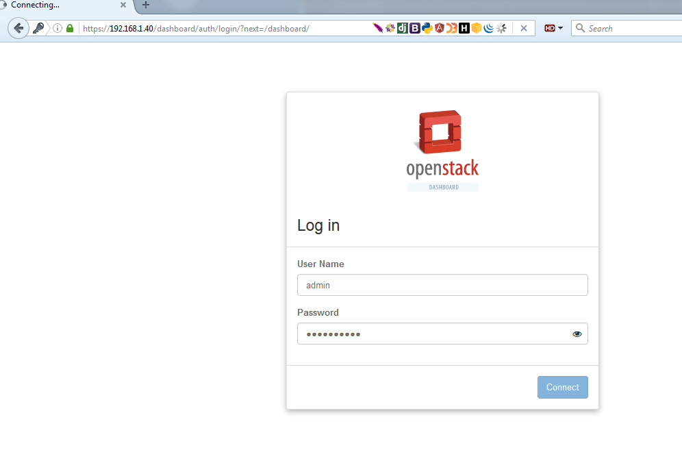 OpenStack-Login-Dashboard