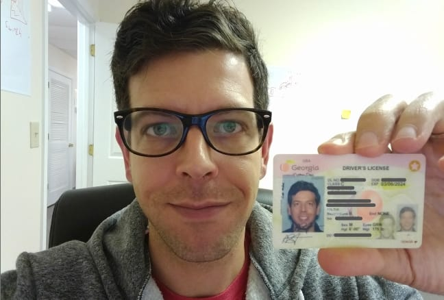 Selfie Holding Your Id Example